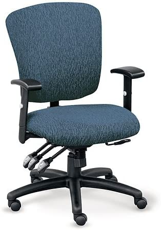 OFFICIENT Sequence Fabric Ergonomic Task Chair Blue Chip Fabric/Black Base