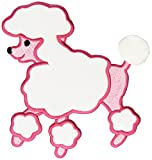 "Fifi & Gigi Poodle Iron-On Applique-Pink 5-1/2""X4-3/4"" 1/Pkg"