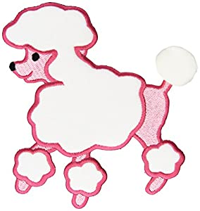Fifi gigi poodle iron on applique pink 5 1 2 for Poodle skirt applique template