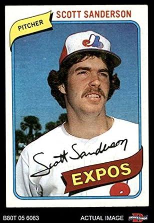 Amazoncom 1980 Topps 578 Scott Sanderson Montreal Expos
