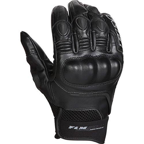 FLM Motorradhandschuhe kurz Motorrad Handschuh Sports Lederhandschuh 5.0 schwarz 9,5, Herren, Sportler, Sommer