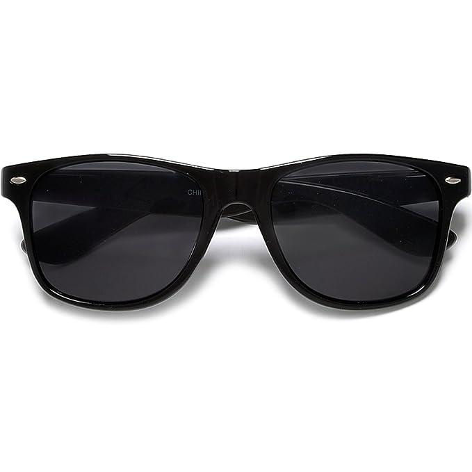 Amazon.com: Super Dark Lens Retro Negro Wayfarer anteojos de ...