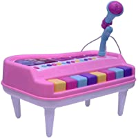 Vivir High Quality Fashion Lights and Musical Organ Piano with Microphone Toys for Kids ( Toys for 3 Year Old Boy and Girl (Assorted)