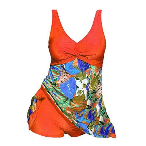 Due Moda Tankini S Elegante Pezzi Donna Arancione Da Pantaloncini Plus Bagno Junkai Size Intero Stampa Sexy 5XL Costume Costumi Donna qtOTcwA7P
