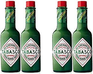 product image for Tabasco Green Pepper Sauce, 5-ounce Bottle (Pack of 4)