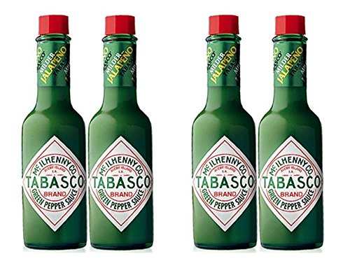 Tabasco Green Pepper Sauce, 5-ounce Bottle (Pack of 4)