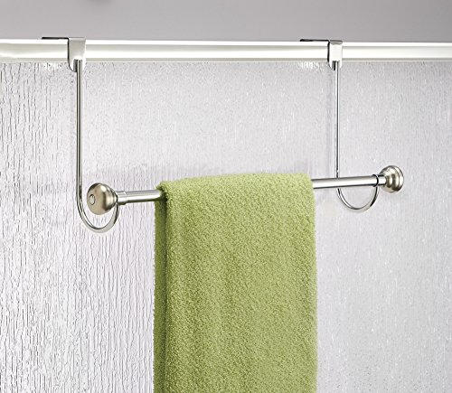 Amazon.com   MDesign Over The Shower Door Towel Rack For Bathroom    Chrome/Stainless Steel