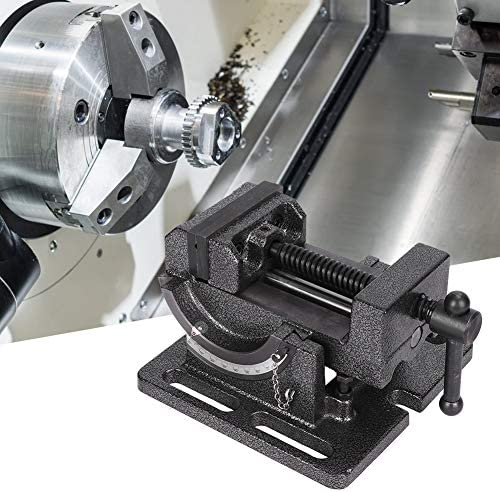 Tilting Drill Press Vise, Machine Vise, Grinding Bottom Cross-Type Precision Drill Bracket Series Mini Drill Accuarncy Work for Incremental Drilling