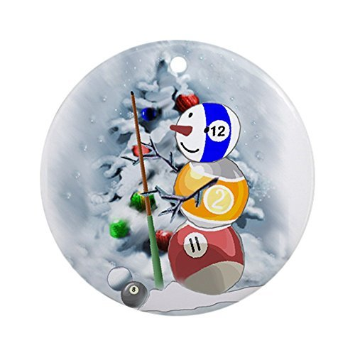 EvelynDavid New Year Christmas Tree Decoration Billiards Ball Snowman Xmas Round Holiday Christmas Ornament ()