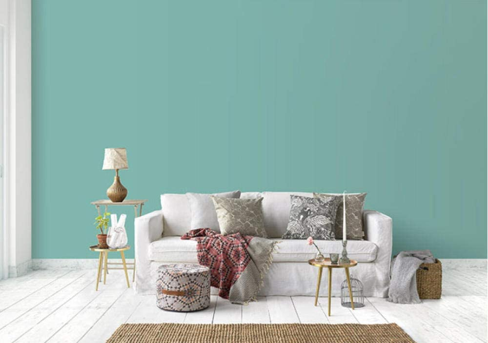 Accey Light Cyan Blue Gray Light Green Blue Green Wallpaper Simple Living Room Bedroom Pure Color Tv Background Wallpaper Amazon Co Uk Diy Tools