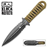 Black Ronin Boot Knife - Double-Edged Spear Point Blade - Heavy Duty Nylon Sheath