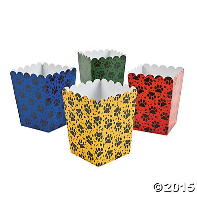 Mini Paw Print Party Popcorn Boxes - 24 pcs by Oriental Trading Company