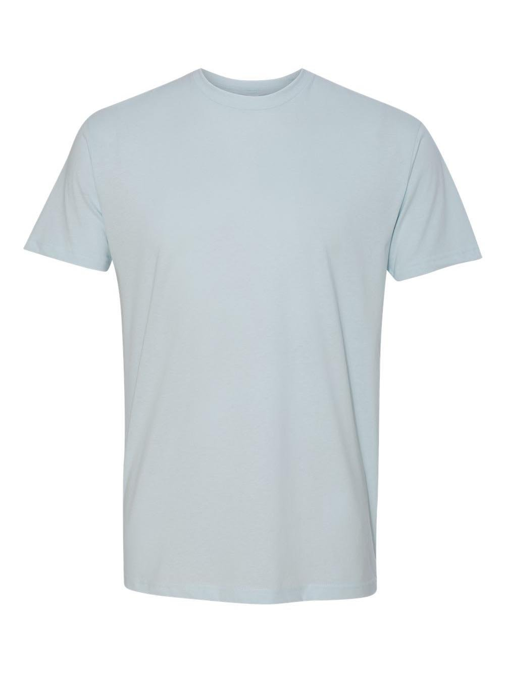 Next Level Men's Premium Fitted Sueded Crew, Light Blue, XX-Large