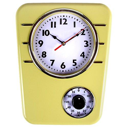 Retro Kitchen Clock Timer Mustard product image