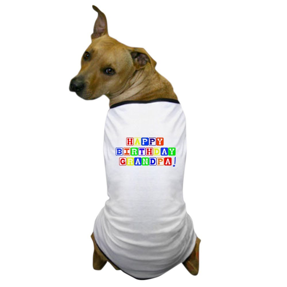 Large CafePress Happy Birthday Grandpa Dog T-Shirt Dog T-Shirt, Pet Clothing, Funny Dog Costume