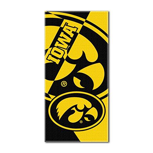 Beach Towel Northwest - The Northwest Company NCAA Iowa Hawkeyes Puzzle Beach Towel, 34