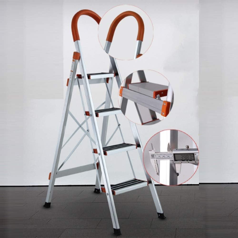 HUO Escalera portátil para el hogar Escalera plegable Aleación de aluminio gruesa (3-4-5-6 Escalera) (Tamaño : 4-3m): Amazon.es: Bricolaje y herramientas