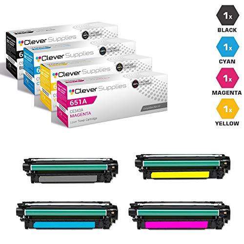 CS Compatible Toner Cartridge Replacement for HP 651A CE340A Black CE341A Cyan CE342A Yellow CE343A Magenta Color Laserjet MFP M775 MFP M775D Enterprise 700 MFP M775DN M775F M775Z M775Z+ 4 Color Set