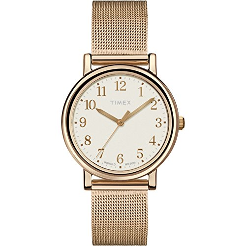 Timex Damen-Armbanduhr XS Originals Classic Round Analog Quarz Messing T2P463