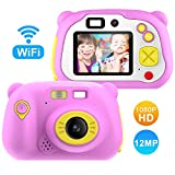 Pancellent [16GB Memory Card Include] Kids Camera Gifts for 3-12 Year Old Girls(12.0 Mega Pixels), Preschool WiFi Camcorder(1920x1080P) Toys Gift for Boys Children