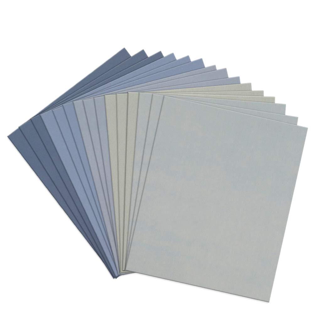 Simplebreeze 15pcs 9 x 11 inch High Grit Wet and Dry Sandpaper Assortment 800 1500 3000 5000 7000 for Car Simplebreeze UK