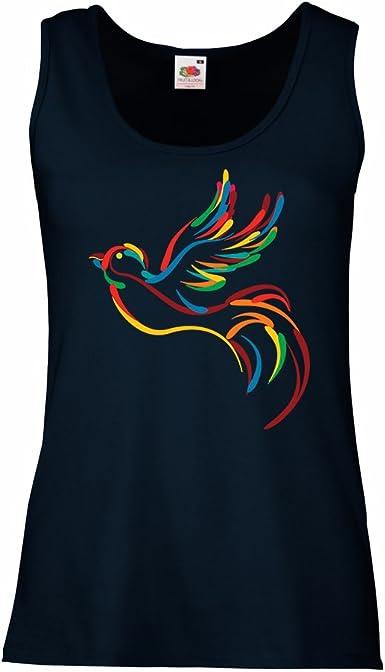 lepni.me Camisetas sin Mangas para Mujer Amor Paz Hippie ...