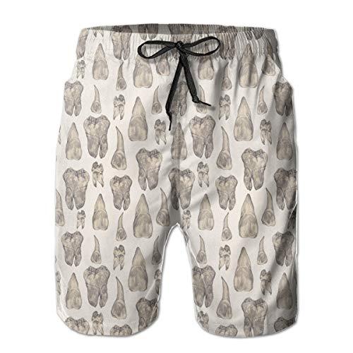YongColer Men Fashion Quick Dry Canine Teeth Beachwear Swimuits Board Shorts Swim Trunks Breathable Beach Surfing Running Sport Pants (Size M)