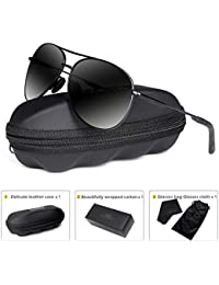 Polarized Aviator Sunglasses for Men - goudi Metal Frame...