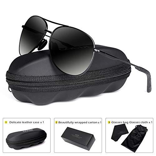 Polarized Aviator Sunglasses for Men - goudi Metal Frame driving UV 400 Protection Mens Women Mirror Sunglasses 8002 -