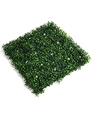 Goolsky Artificial Grass Realistic Fake Grass Thick Lawn Turf Rugs Carpet Self-draining Mat Fake Grass for Indoor Outdoor Landscape Balcony