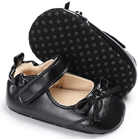 Baby Girls Soft Sole Bowknot Mary Jane Princess Shoes