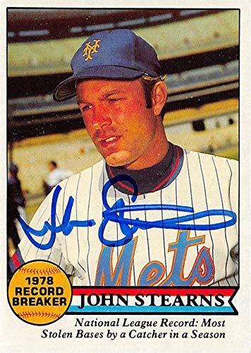 John Stearns autographed Baseball Card (New York Mets) 1979 Topps Record Breaker #205