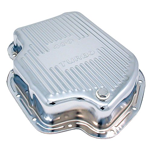 Spectre Performance 5459 Chrome Extra Capacity Transmission Pan for Turbo 400 Engines (400 Series Engines)