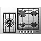 """Tools & Hardware : Fulgor Milano F4GK30S1 30"""" Gas Cooktop with 5 Burners, Stainless Steel"""