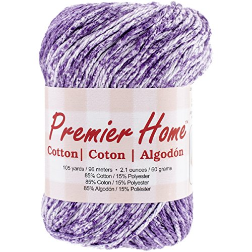 Premier Yarns Home Cotton Yarn, Violet Splash