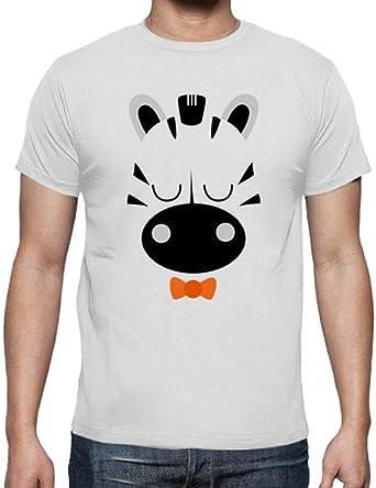 latostadora - Camiseta Cebra Chico para Hombre Blanco 4XL: bonitismo: Amazon.es: Ropa y accesorios