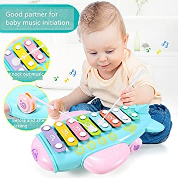 c3436507dc6a LittleDi Baby   Children s Puzzle Knock on The Piano 5-8 Months Baby Music Toys  1-2-3 Years Old Children Early Childhood Music Piano  Amazon.co.uk  Toys    ...