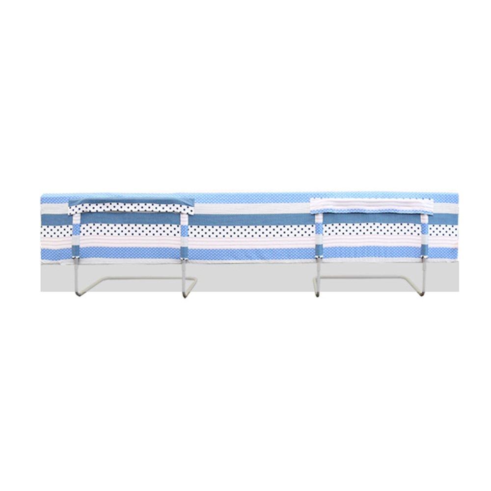 HAIYU ベッドガード- 綿生地ガードレール反秋フェンスベビーベッドサイドベッドレール折り畳み式バッフル 組み立てや折りたたみが簡単 (Color : Blue, Size : 1.5m) 1.5m Blue B07TPHD2KM