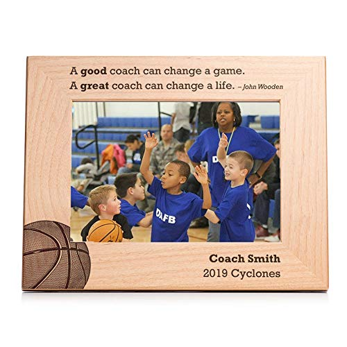 Lifetime Creations Personalized Basketball Coach Picture Frame - Engraved Basketball Coach Frame