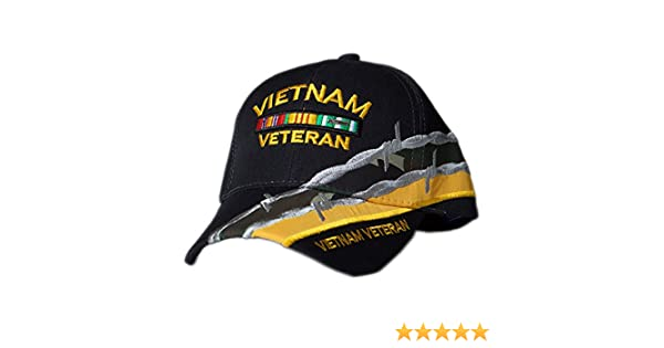 df02e8521d0f4 US HONOR TM Embroidered Barbed Wire Vietnam Veteran Bar Baseball Caps Hats  at Amazon Men s Clothing store