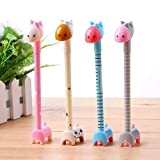 Chanyi(TM) Kids Gifts Novelty Animal Giraffe Ballpoint Pens Ball Pen Set Gifts Prizes for Kids(4pcs)