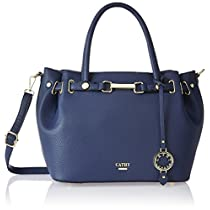 Cathy London Womens Handbag Colour Blue Material Synth