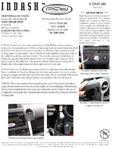 Padholdr Social Series Premium Tablet Dash Kit 2004-2006 Toyota Scion Xb/Scion Xb for Smaller Tablets by PADHOLDR (Image #3)