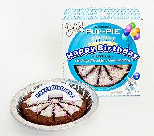 Lazy Dog Cookie Company Original Pup-PIE Dog Treat, Happy Birthday Cake for a Charming Boy, 5oz ()