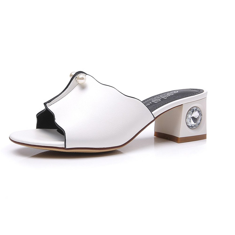 Summer High Heel Heel Lace Fashion Cool Slippers