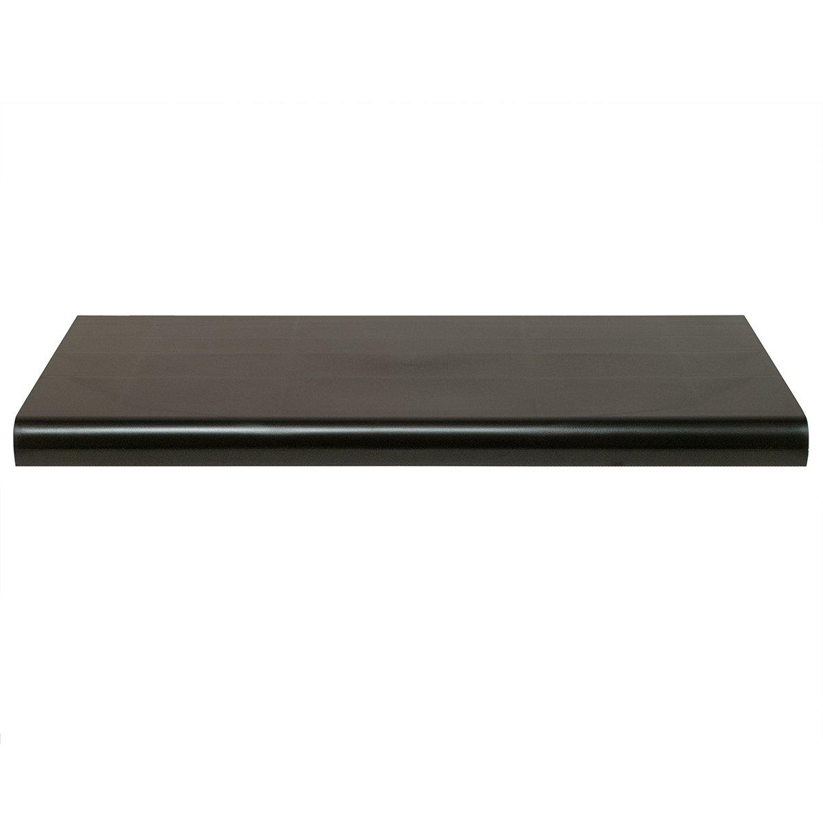 KC Store Fixtures 30310 Shelf Bullnose, 24'' Length,  13'' Width, 4 Shelf, Plastic, Black (Pack of 4)