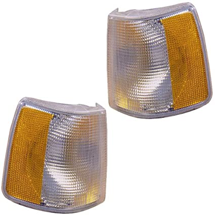 1991-1994 Volvo 940 & 960 (for Models with Fog Lights), 1988-1990 Volvo 760 Corner Park Light Turn Signal Marker Lamp Pair Set Left Driver And Right ...