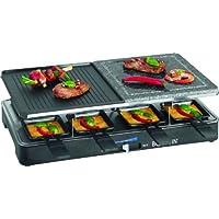 Raclettegrill schwarz klein Grill and Roast Balkon ✔ eckig ✔ Grillen mit Elektrogrill ✔ für den Tisch