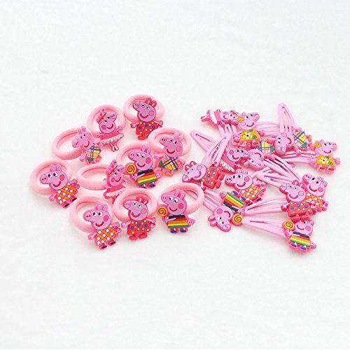 4PCS Girls Children Hair Accessories Peppa Pig Hair Clip Set Bobble Brockhill Trading