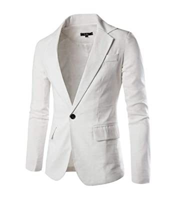 Blazer Homme Veste Slim Veste Blazer Suit Fit Style Simple Décontractée Blazer  Homme 1 Bouton Loisirs 00c13176fd9